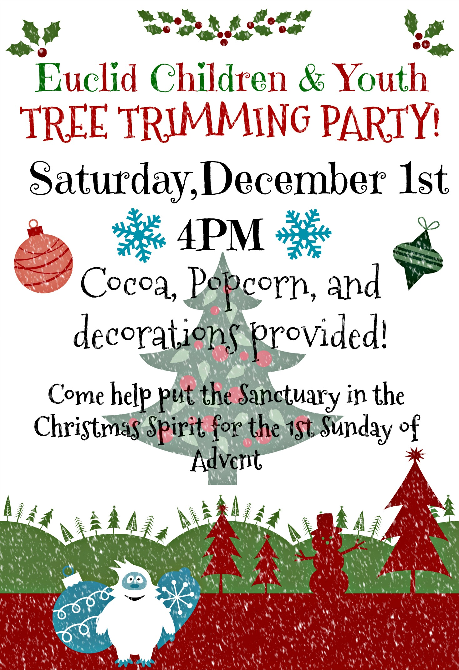 Children & Youth Tree Trimming Party