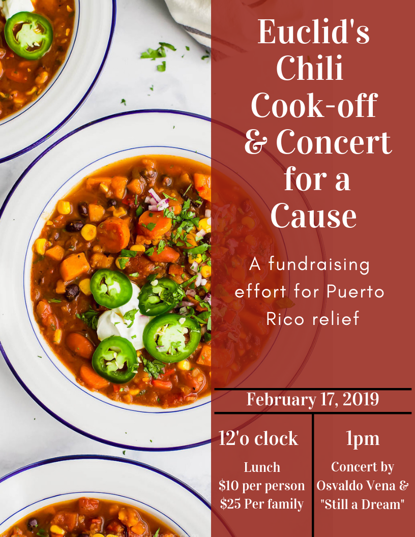 Music & Chili for a Cause: Save the Date-Sunday, February 17th  for our Chili Cook-Off & Concert for a Cause. @ Music & Chili for a Cause