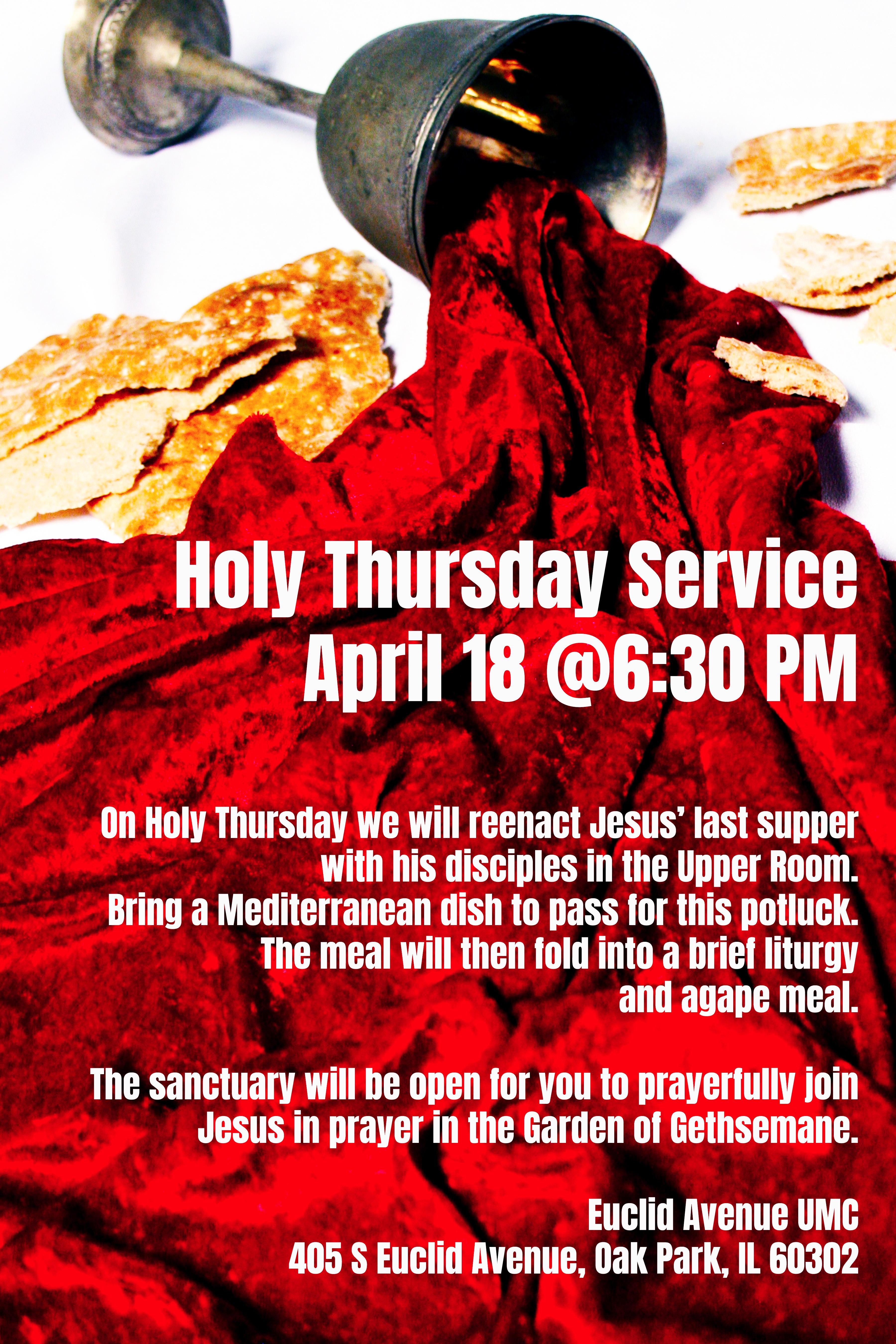 Maundy Thursday Potluck Seder Dinner