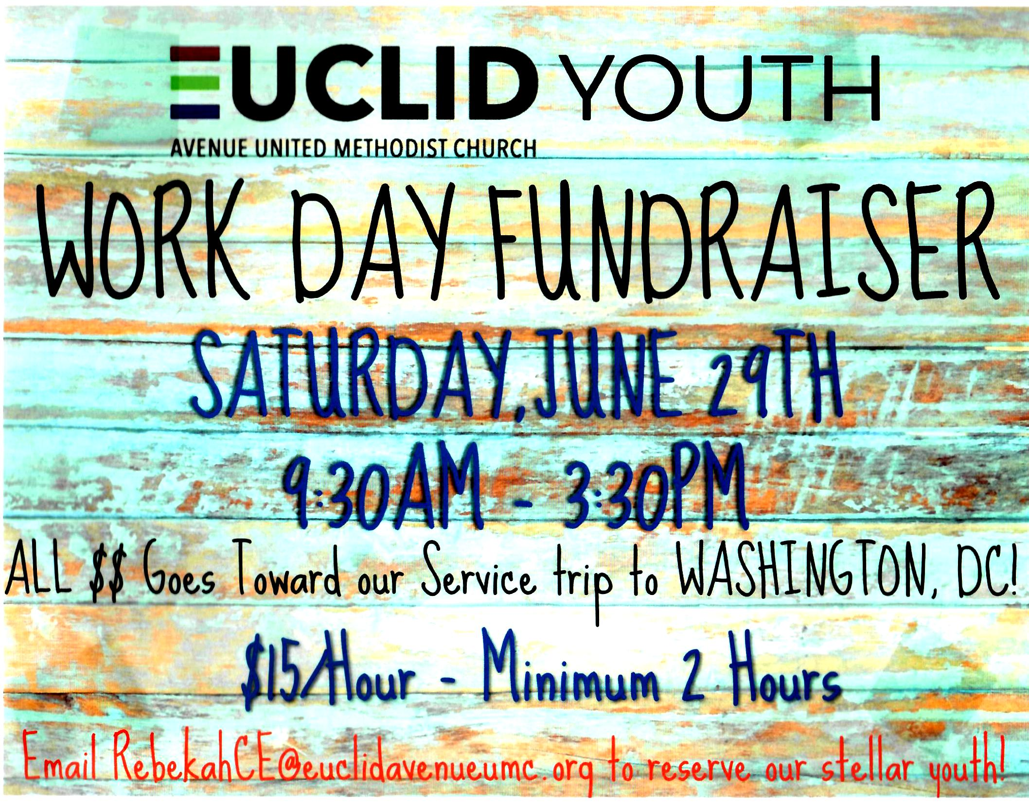Euclid Youth Fundraiser, June 29th